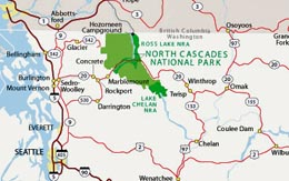 President Johnson signs bill creating North Cascades National Park ...