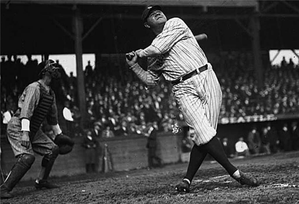 Babe Ruth Hits Three Homers In An Exhibition Game At