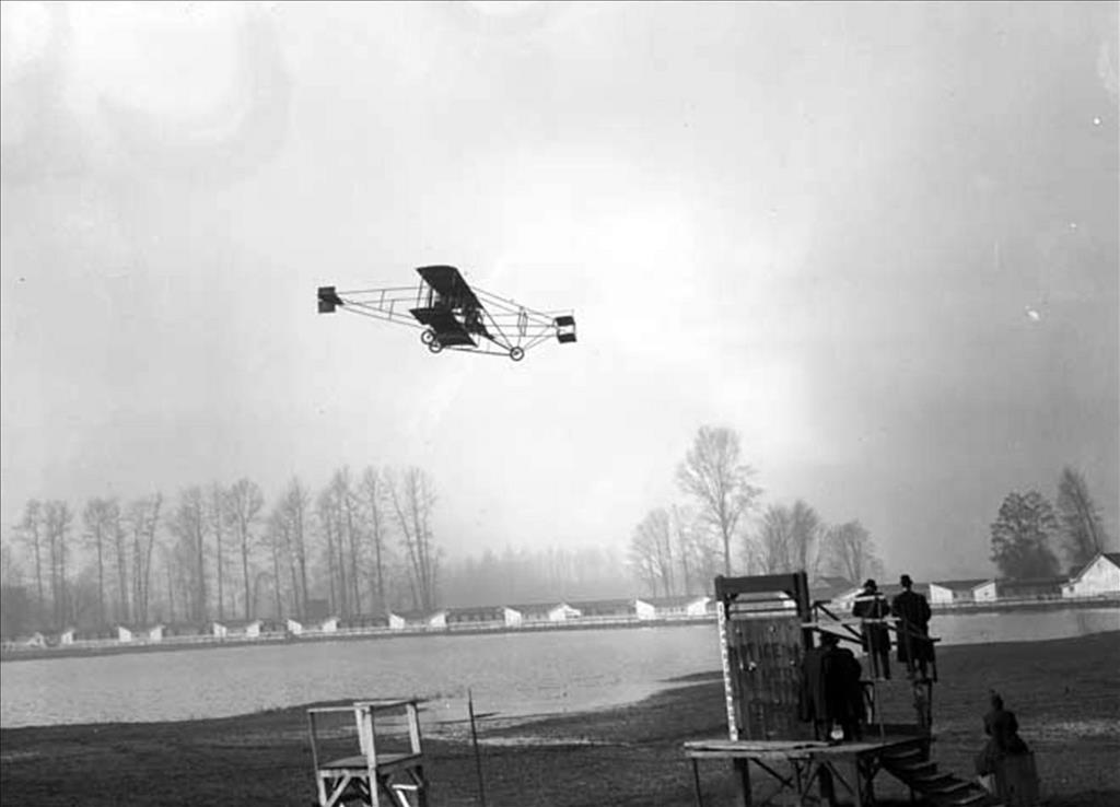 Night Flight To Nowhere Starts In Uw >> Charles Hamilton Pilots The First Airplane In Washington On March 11